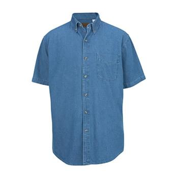 Men's Mid-Weight Short Sleeve Denim Shirt