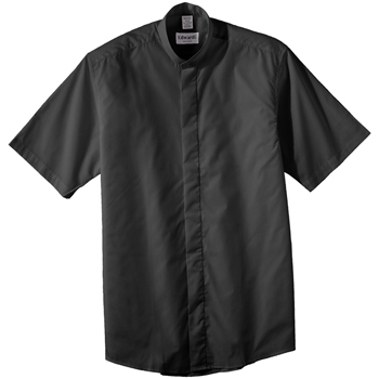 Men's Short Sleeve Banded Collar Shirt