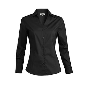 Women's Long Sleeve V-Neck Tailored Stretch Blouse